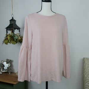 Philosophy Pink Soft Sweater Long Sleeve Blouse M